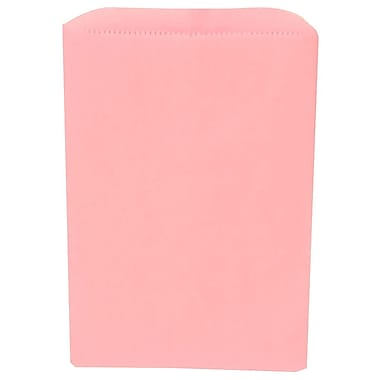 JAM Paper® Merchandise Bags, Small, 6.25 x 9.25, Baby Pink, 1000/Pack (342126822)