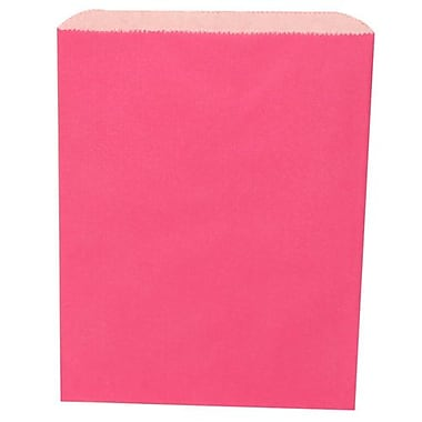 JAM Paper® Merchandise Bags, Medium, 8.5 x 11, Fuchsia Pink, 1000/Pack (342126828)