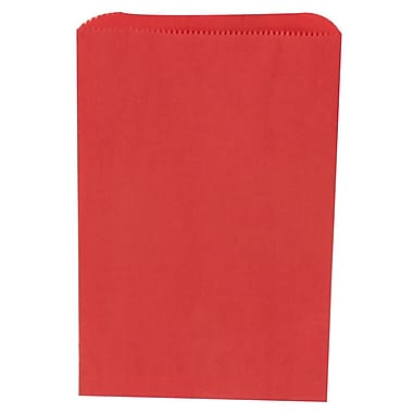 JAM Paper® Merchandise Bags, Small, 6.25 x 9.25, Red, 1000/Pack (342126830)