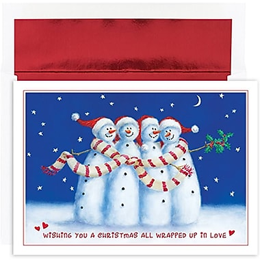 JAM Paper® Christmas Holiday Cards Set, All Wrapped Up, 2 packs of 18 (526853100g)