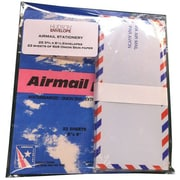 JAM Paper® Airmail Stationery Set, 50 #10 Envelopes and 44 Onion Skin Sheets of Paper (2237218951g)
