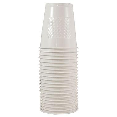 JAM Paper – Gobelets en plastique, 12 oz, blanc, 200/paquet (2255520710B)