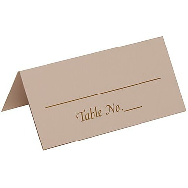 JAM Paper® Placecards, Table Number Place Cards, White with Gold Place Cards, 50/Pack (2259420975)