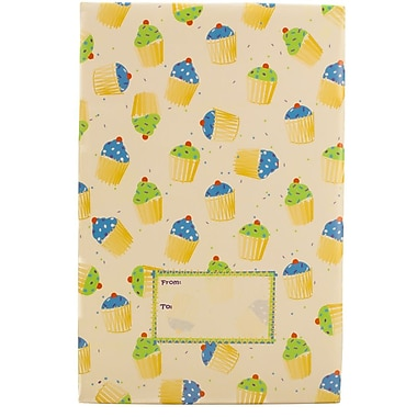 JAM Paper® Holiday Bubble Mailers, Medium, 8.5 x 12.25, Party Cupcake Pattern, 6/Pack (SS24MDM)