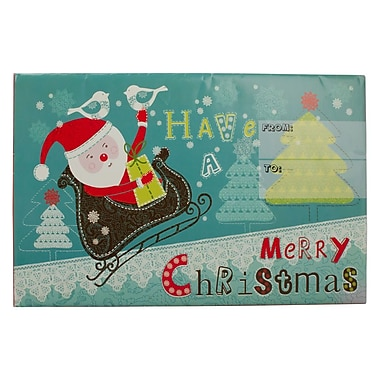 JAM Paper® Holiday Bubble Mailers, Large, 10.5 x 16, Santa on Sleigh Have a Merry Christmas, 6/Pack (SS36MDM)