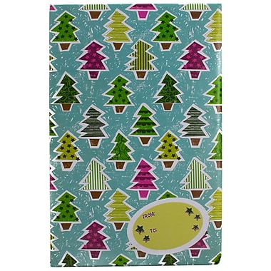 JAM Paper® Holiday Bubble Mailers, Small, 6 x 10, Colourful Christmas Tree Pattern, 12/Pack (SS39SDMg)