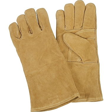 Welders' Comfoflex Premium Lined Gloves, 610-2000, Split Cowhide Leather, 4/Pack