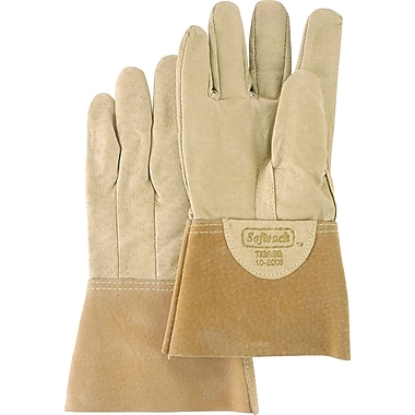 Welders' Softouch Pigskin TIG Gloves, 610-2008M, Pigskin Leather, 4/Pack