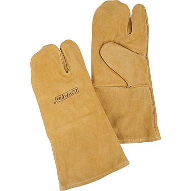 Welders' Comfoflex Premium Lined Gloves, 610-2178, Split Cowhide Leather, 3/Pack