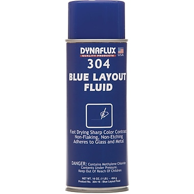 Blue Layout Fluid, 881-1100, 4/Pack