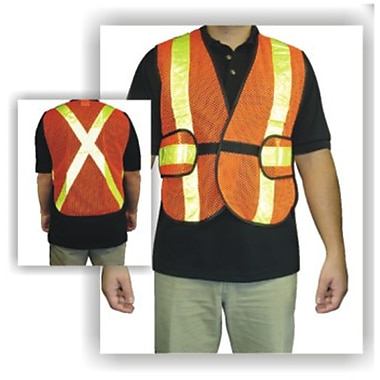Workhorse Traffic Vests, Orange, MLN830, 4/Pack