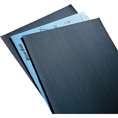 Sandpaper, Paper Sheets, Blue-Bak T414 Waterproof Sheets, NZ450, 50/Pack
