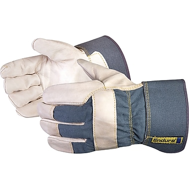 Endura Cotton Palm Lined Grain Fitters Gloves, SAF948, Cotton, 12/Pack