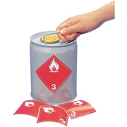 Étiquettes TMD, liquides inflammables, SAG861, 2/paquet