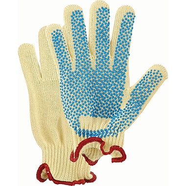 Dotted Medium Weight Kevlar Knit Gloves, SAJ926, Kevlarwith Pvc, 6/Pack