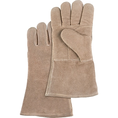 Welders' Premium Quality Foam Lined Gloves, SAN277, Split Cowhide Leather, 12/Pack