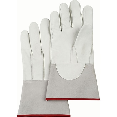 Welders' Pigskin Tig Gloves, SAN640, Grain Pigskin Leather, 12/Pack
