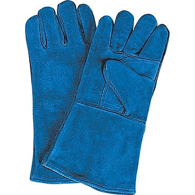 Welders' Superior Quality Gloves, SAO128, Split Cowhide Leather, 12/Pack