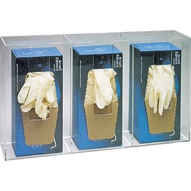 Distributeur de gants triple de luxe, SAO743, acrylique