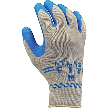 Atlas Fit 300 Rubber Latex Coated Gloves, SAO815, Polyester/Cotton, 36/Pack