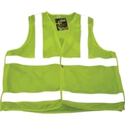 Sports Mesh Safety Vests, Fluorescent Lime Yellow, SAR624, 3/Pack