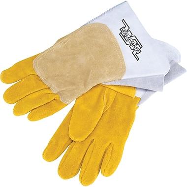 Welders' Pipeliner Gloves, SAV008, Split Cowhide Leather, 4/Pack