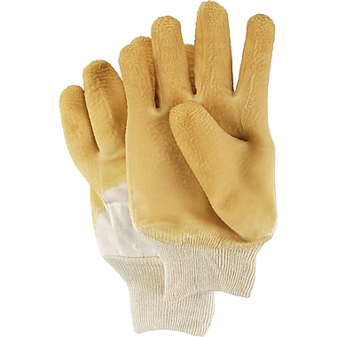 Nitty Gritty Rubber Palm Coated Gloves, SAJ468, Cotton Flannel, 12/Pack