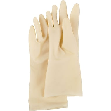 Value Master Natural Rubber Gloves, SC465, Natural Rubber, 72/Pack