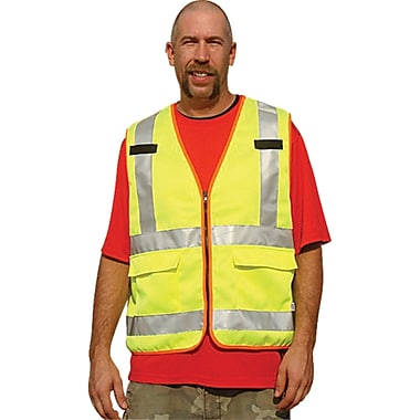 Polycotton Safety Vests, Fluorescent Lime Yellow, SEA622