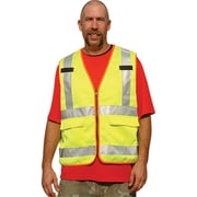 Polycotton Safety Vests, Fluorescent Lime Yellow, SEA620
