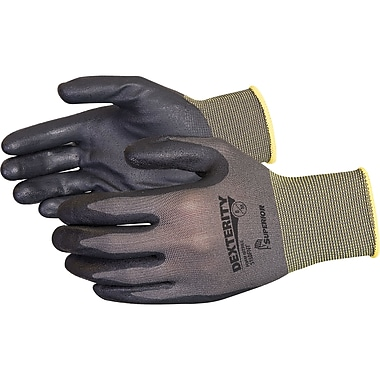 DexterityNT Foam-Nitrile-Dipped Work Gloves, SEB095, Nylon, 36/Pack