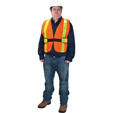 High Visibility Vest, Fluorescent Orange, SEB234, 3/Pack