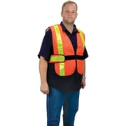 Mesh Traffic Vests, Fluorescent Lime Yellow, SEB525, 2/Pack