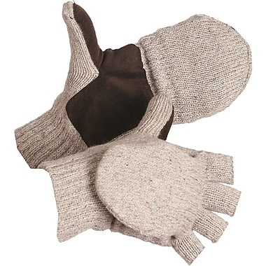 Glove Wool Flip, Top Mittnatural Beige, SEB947, Wool, 12/Pack