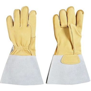 Grain Cowhide Leather Gloves, SEE838, Leather, 2/Pack