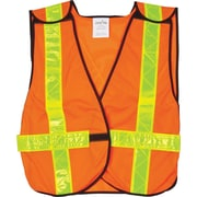 Traffic Vests, Yellow, SEF095, 12/Pack