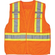 Traffic Vests, CSA Compliant Surveyor, Orange, SEF103, 6/Pack