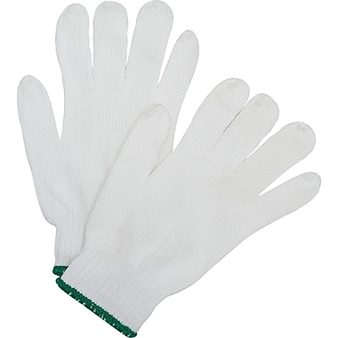 Polyester String Knit Gloves, SEF199, Polyester, Nylon, 24/Pack