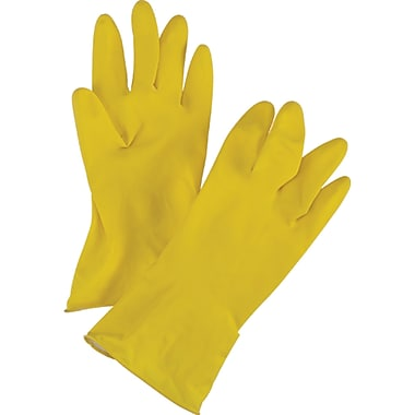 Natural Rubber Latex Gloves, SEF006, Natural Rubber Latex, 12/Pack