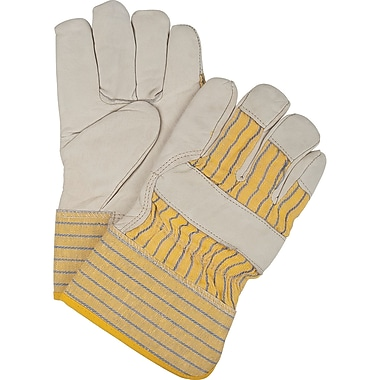 Thinsulate Lined Grain Cowhide Fitters Gloves, SEH040, Grain Cowhide Leather, 6/Pack