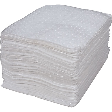 Bonded Sorbent Pads, Oil Only, SEI999, Light Weight, 200/Pack