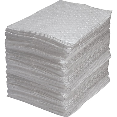 Fine Fibre Sorbent Pads, Industrial Grade, Oil Only, SEI958, Light-Weight, 200/Pack