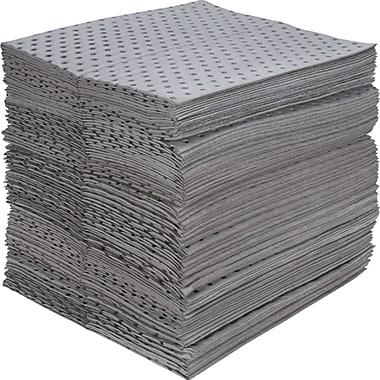 Fine Fibre Sorbent Pads, Industrial Grade, Universal, SEI964, Medium-Weight, 100/Pack