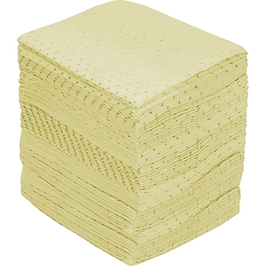Fine Fibre Sorbent Pads, Industrial Grade, Hazmat, SEI971, Medium-Weight, 100/Pack