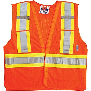 Traffic Safety Vests, Orange, SEK051, 4/Pack