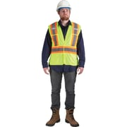 Traffic Vests, CSA Compliant Surveyor, Lime-Yellow, SEK232, 6/Pack