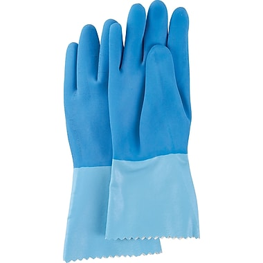 Blue-Grip Heavyweight Natural Rubber Latex Gloves, SN730, Natural Rubber Latex, 12/Pack