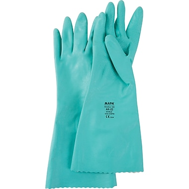 StanSolv Embossed Z-Pattern Grip Gloves, SN743, Nitrile, 6/Pack