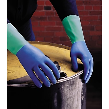 Protector Nitrile Gloves, SN793, Natural Rubber, Nitrile, 36/Pack
