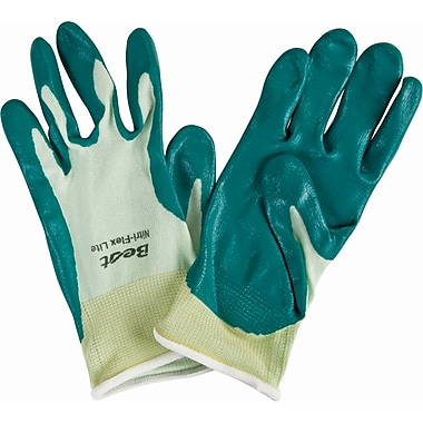 Nitri-Flex Lite Nitrile Palm Coated Gloves, SQ136, Seamless Nylon, 36/Pack
